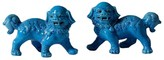 The Well Appointed House Walking Foo Dog Pair in Turquoise Porcelain