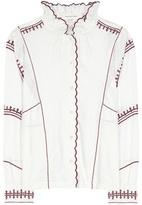 Etoile Isabel Marant Isabel Marant, Étoile Delphine embroidered linen shirt