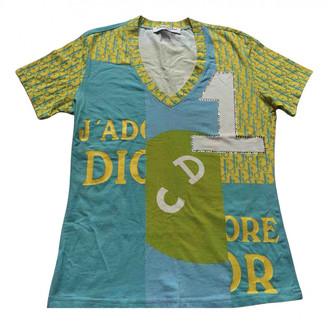 Christian Dior Green Cotton Tops
