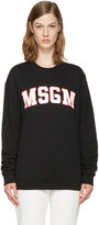 MSGM Black Block Letter Logo Pullover