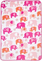 Carter's Elephant Walk Toddler Printed Coral Fleece Blanket