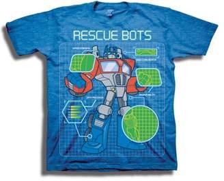 Transformers Rescue Bots Toddler Boys' Optimus Prime Short Sleeve T-Shirt