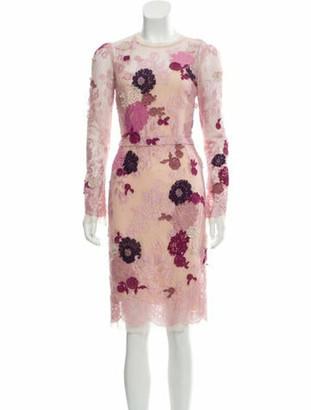 Dolce & Gabbana Lace Sheath Dress multicolor