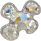 Krustallos Swarovski Crystal Brooch with Circular and Square Crystal Patterns