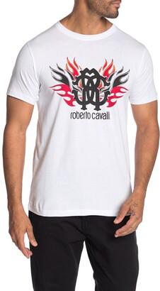 Roberto Cavalli Logo Graphic T-Shirt