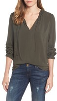 Velvet by Graham & Spencer Women's Ruffle Tie Neck Top