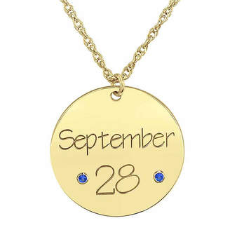 FINE JEWELRY Personalized Birthstone Date Pendant Necklace