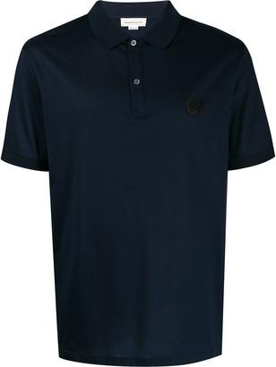 Alexander McQueen Beaded Skull Polo Shirt