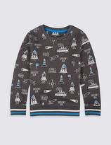 Marks and Spencer Printed Sweatshirt (3 Months - 6 Years)