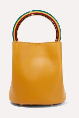 Marni Pannier Small Leather Bucket Bag - Mustard
