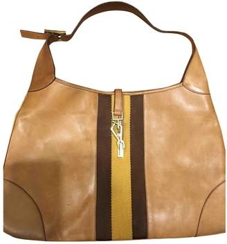 Gucci Jackie Vintage Camel Leather Handbags