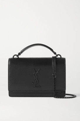 Saint Laurent Sunset Leather Shoulder Bag - Black