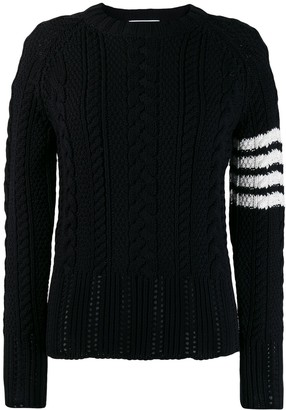 Thom Browne 4-Bar cable-knit jumper