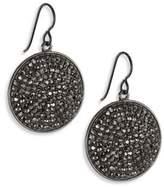 Nest Hematite Pave Drop Earrings