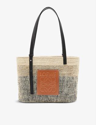 Loewe x Paulas small woven reed tote bag