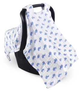 Hudson Baby Unisex Baby Muslin Cotton Car Seat Canopy, One Size