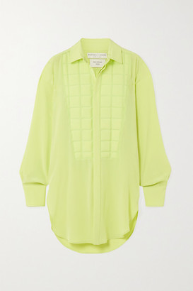 Bottega Veneta Quilted Silk Crepe De Chine Blouse - Yellow