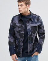 G-star Vodan 3d Slim Denim Jacket Camo Print