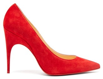 Christian Louboutin Alminette 100 Suede Pumps - Womens - Red