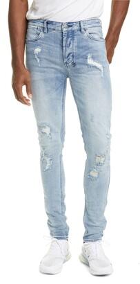 Ksubi Van Winkle Krow Trashed Skinny Jeans