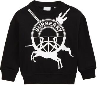Burberry Logo Mash-Up Graphic Sweatshirt