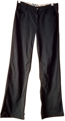 Burberry Black Cotton Trousers