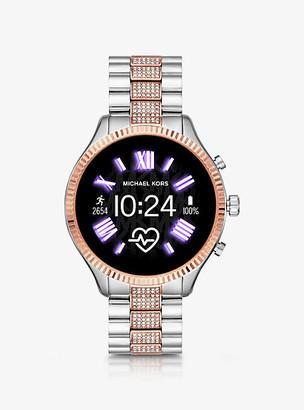 Michael Kors Gen 5 Lexington Pave Two-Tone Smartwatch
