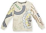 Kenzo Balzac Crewneck Logo Sweatshirt, Light Brown, Size 8-12