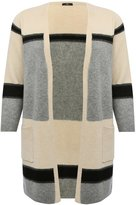M&Co Plus colour block stripe cardigan