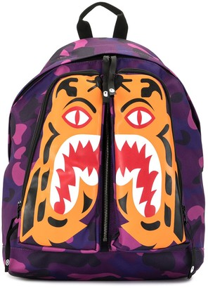 A Bathing Ape Camouflage Tiger-Print Backpack