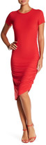 Hip Short Sleeve Ruched Dress