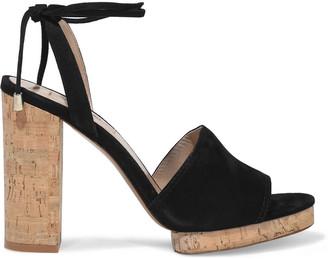 Valentino Suede And Cork Platform Sandals