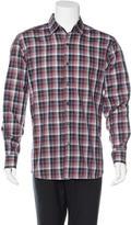 Ermenegildo Zegna Tattersall Plaid Woven Shirt