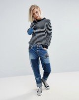 Pepe Jeans Vagabond Deconstructed Rose Patch Jeans