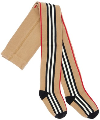 Burberry Icon Stripes Stretch Cotton Tights