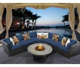 Tegan 6 Piece Sectional Seating Group with Cushions Sol 72 Outdoor Cushion Color: Navy