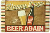 "Bacova Happy Days Are BEER AGAIN"" 23-Inch x 36-Inch Memory Foam Kitchen Mat in Tan"