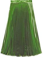 Gucci Iridescent green pleated skirt