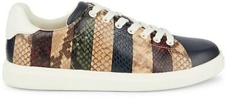 Tory Burch Howell Court Snakeskin-Embossed Sneakers