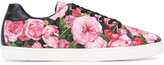 Dolce & Gabbana floral print sneakers - kids - Cotton/Leather/Foam Rubber - 37