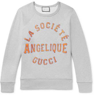 Gucci Appliqued Loopback Cotton-Jersey Sweatshirt