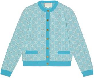 Gucci GG cotton wool piquet cardigan