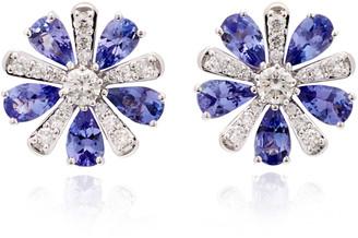 Hueb Exclusive 18K White Gold, Tanzanite And Diamond Earrings