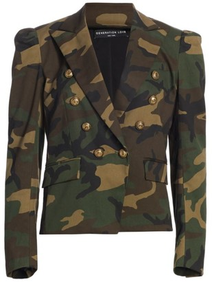 Generation Love Knight Camo Print Blazer