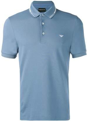 Emporio Armani blue polo top