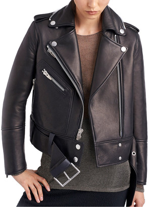 The Arrivals Ruf Bonded Leather Moto Jacket