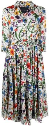 Samantha Sung Aster vintage floral print dress