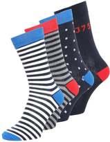Jack & Jones Jjaccard 4 Pack Socks Navy Blazer