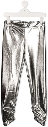 Pinko Kids Metallic-Effect Leggings