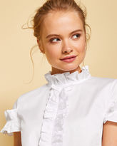 Ted Baker Frill detail cotton blouse